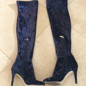 a693b8220c Jimmy Choo Shoes - Jimmy Choo Toni Over-The-Knee Stretch-Velvet Boots